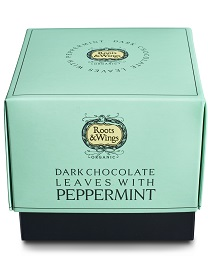 Dark Chocolate Leaves with Peppermint